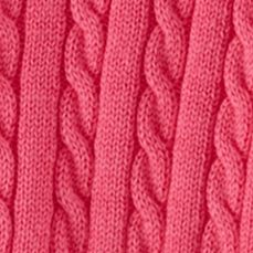 Toddler Girls Outerwear: Pink Ralph Lauren Childrenswear 1 MINI CABLE-SWEATER FLO VIOLET ROSE