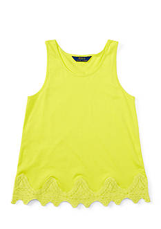 Ralph Lauren Childrenswear Lace Hem Tank Toddler Girls