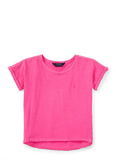 Ralph Lauren Childrenswear Roll-Cuff Tee Toddler Girls