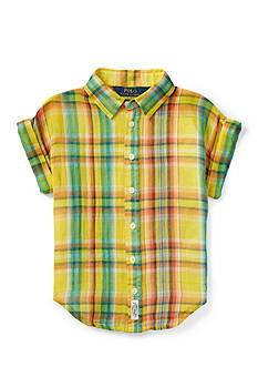 Ralph Lauren Childrenswear Plaid Shirt Toddler Girls