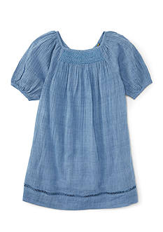 Ralph Lauren Childrenswear V-Back Dress Toddler Girls