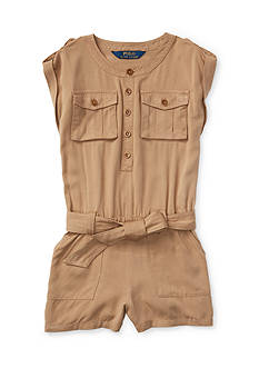 Ralph Lauren Childrenswear Cargo Romper Toddler Girls