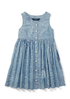 Ralph Lauren Childrenswear Chambray Chambray Dress Toddler Girl