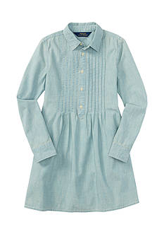 Ralph Lauren Childrenswear Chambray Shirt Dress Toddler Girl