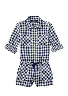 Ralph Lauren Childrenswear Gingham Romper Toddler Girl