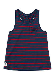 Ralph Lauren Childrenswear Jersey Stripe Tank Top Toddler Girl
