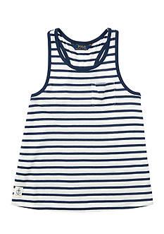 Ralph Lauren Childrenswear Jersey Stripe Tank Top Toddler Girl