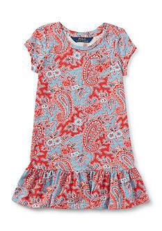 Ralph Lauren Childrenswear Jersey Paisley Dress Toddler Girl
