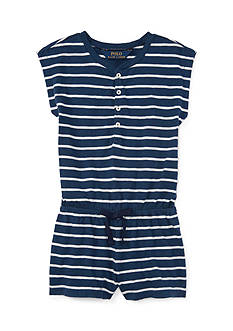 Ralph Lauren Childrenswear Jersey Stripe One Piece Romper Toddler Girl