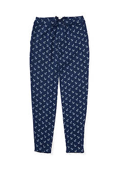 Ralph Lauren Childrenswear Washed Jersey Anchor Pants Toddler Girl