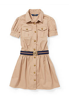 Ralph Lauren Childrenswear Cotton Twill Shirtdress Toddler Girls