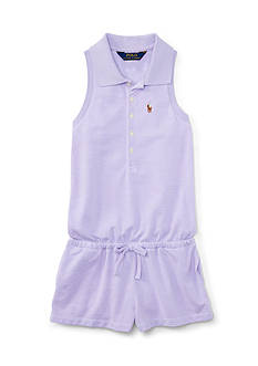 Ralph Lauren Childrenswear Mesh Romper Toddler Girls
