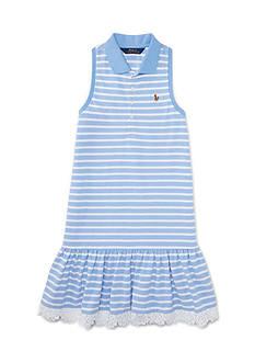 Ralph Lauren Childrenswear Oxford Mesh Dress Toddler Girl