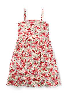 Ralph Lauren Childrenswear Linen Floral Sundress Toddler Girl