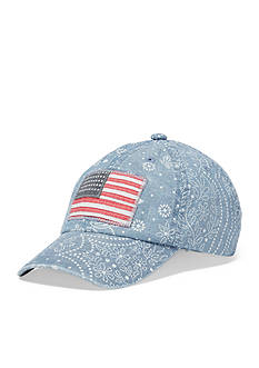 Ralph Lauren Childrenswear Chambray Flag Hat Toddler Girl