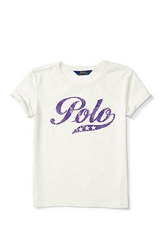 Ralph Lauren Childrenswear Jersey Polo T-Shirt - Toddler Girl