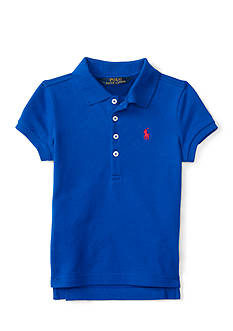 Ralph Lauren Childrenswear Stretch Mesh Polo Top - Toddler Girl