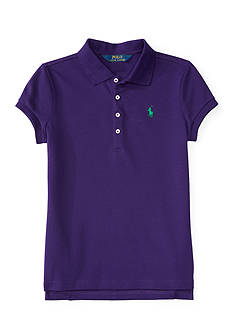 Ralph Lauren Childrenswear Stretch Mesh Polo Shirt - Toddler Girl