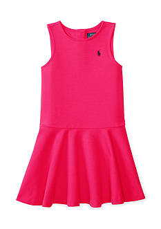 Ralph Lauren Childrenswear Ponte Pleated Dress Toddler Girl