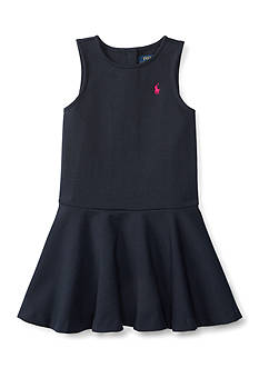 Ralph Lauren Childrenswear Ponte Pleated Dress Toddler Girl