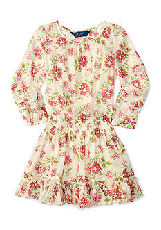 Ralph Lauren Childrenswear Chiffon Floral Dress Toddler Girl