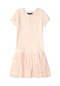 Ralph Lauren Childrenswear Woven Henley Dress Toddler Girl
