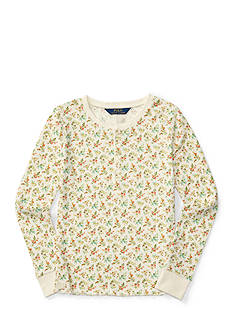Ralph Lauren Childrenswear Floral Henley Top Toddler Girl