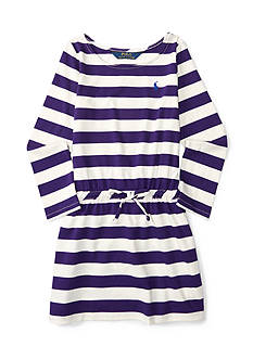 Ralph Lauren Childrenswear Jersey Stripe Dress Toddler Girl