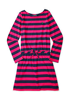 Ralph Lauren Childrenswear Jersey Stripe Dress Toddler Girl