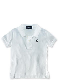 Ralph Lauren Childrenswear Solid Mesh Polo Shirt - Infant