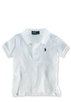 Ralph Lauren Childrenswear Solid Mesh Polo Shirt - Infant