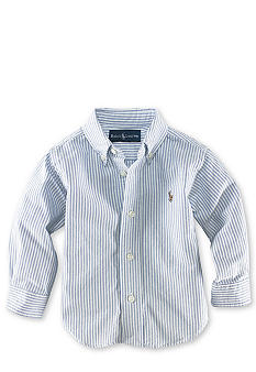 Ralph Lauren Childrenswear Stripe Oxford Shirt - Infant