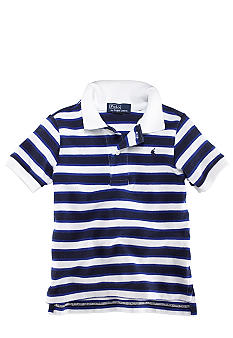 Ralph Lauren Childrenswear Infant Striped Mesh Polo