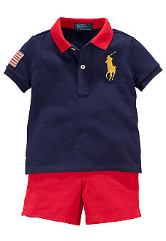 Ralph Lauren Childrenswear Polo and Short Set
