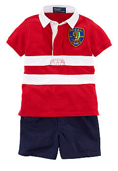 Ralph Lauren Childrenswear Striped Polo and Short Set