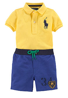 Ralph Lauren Childrenswear Colorblocked Polo Short Set