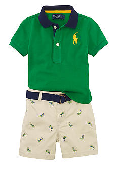 Ralph Lauren Childrenswear Alligator Print Short Set
