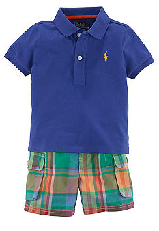 Ralph Lauren Childrenswear Signature Polo and Preppy Madras Short Set
