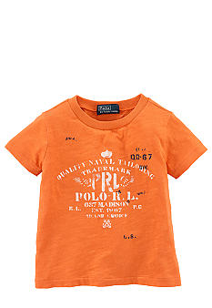 Ralph Lauren Childrenswear Nautical Polo Logo Screenprint Tee