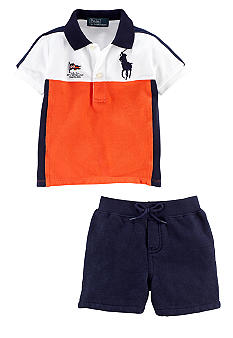 Ralph Lauren Childrenswear Nautical Striped Polo and Short Set