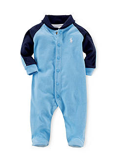 Ralph Lauren Childrenswear Shawl Collar Coverall Toddler Boys