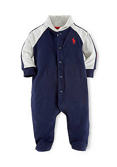 Ralph Lauren Childrenswear Rugby Shawl Collar Coverall