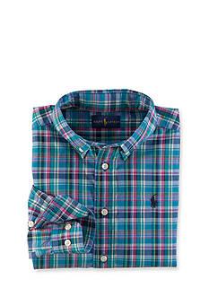 Ralph Lauren Childrenswear Blake Plaid Oxford Shirt