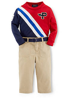 Ralph Lauren Childrenswear Banner Tee & Chino Pant Set