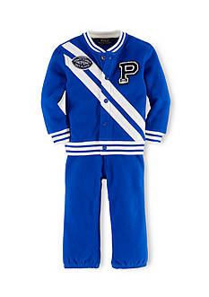 Ralph Lauren Childrenswear Sporty Football Jacket & Pants Set