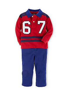 Ralph Lauren Childrenswear Collegiate Inspired Polo & Chino Pant Set