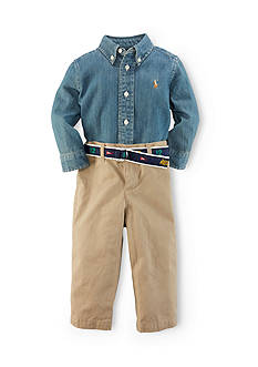 Ralph Lauren Childrenswear Chambray Shirt & Chino Pant Set