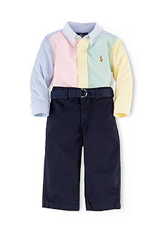 Ralph Lauren Childrenswear Panelled Button Down & Chino Pant Set
