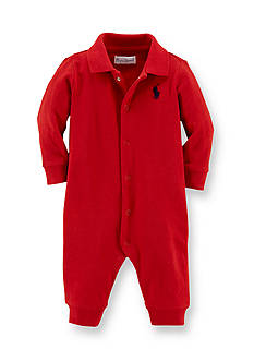 Ralph Lauren Childrenswear Long Sleeve Solid Coverall