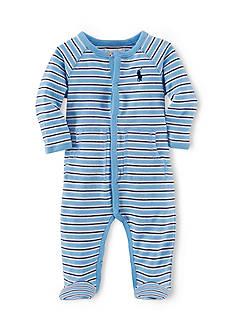 Ralph Lauren Childrenswear Long Sleeve Striped Coverall